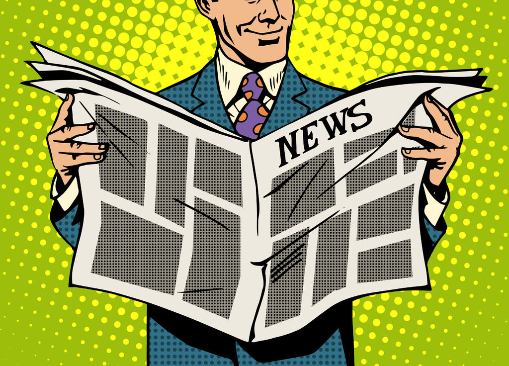 47522671 - man businessman reading news newspaper pop art retro style