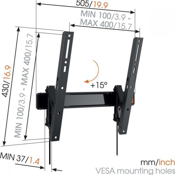 WALL 3215 Soporte TV Inclinable | Vogel's