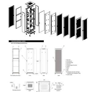 AR27-66 Armario – Rack 27 U. 600 x 600