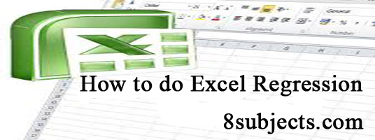 excel regression
