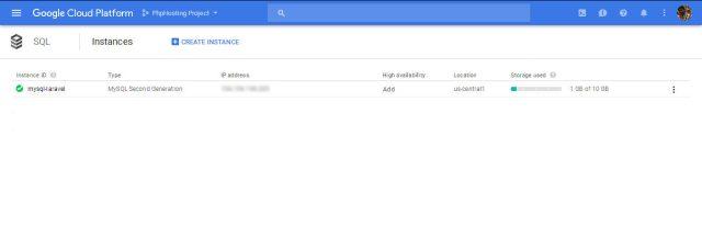 Google-Cloud-Mysql-Instance