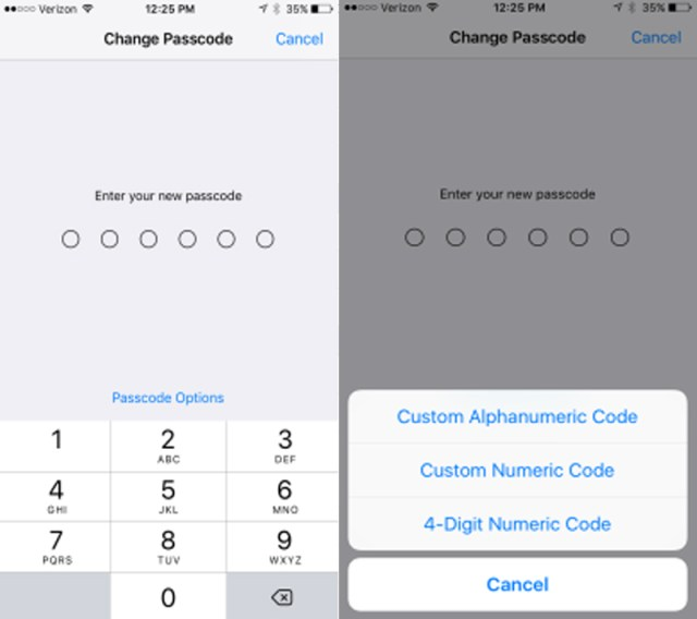 iphone password