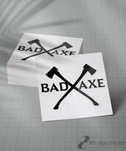 Crossed Axes Decal