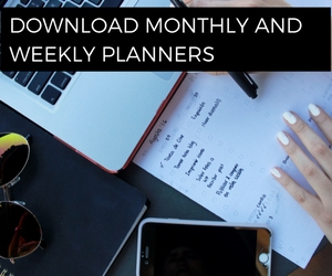 Download monthly and weekly planners