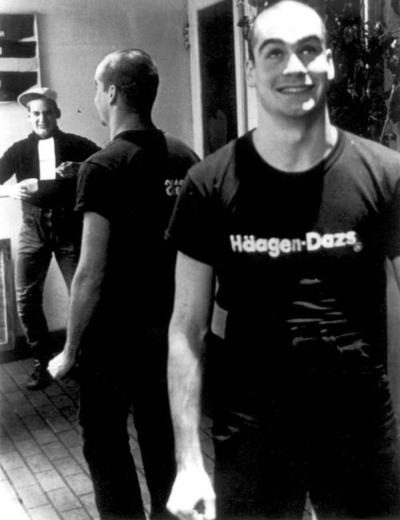 A young Henry Rollins at the Georgetown Haagen Dazs where he worked.