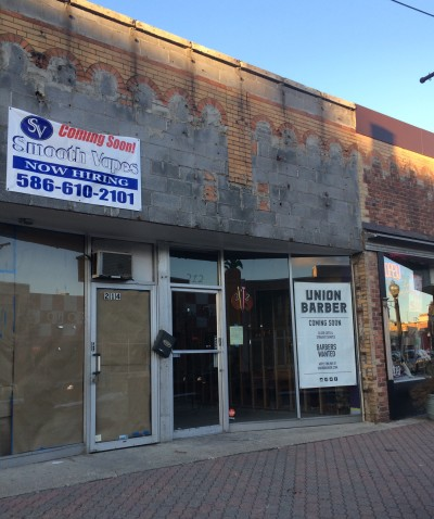 A vape store and barber shop are among the new businesses preparing to open in Ferndale.