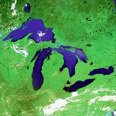 It's pretty easy to spot Michigan, even without lines on a map.
