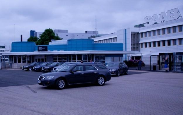 Nr 31 (and its SC sibblings)  at the Saab factory main gate.
