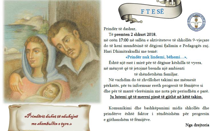 2 shkurt-Takim me prindërit