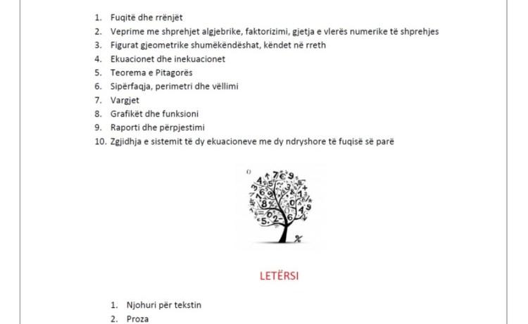 Literatura për nxënësit që mbarojnë KLASËN E IX