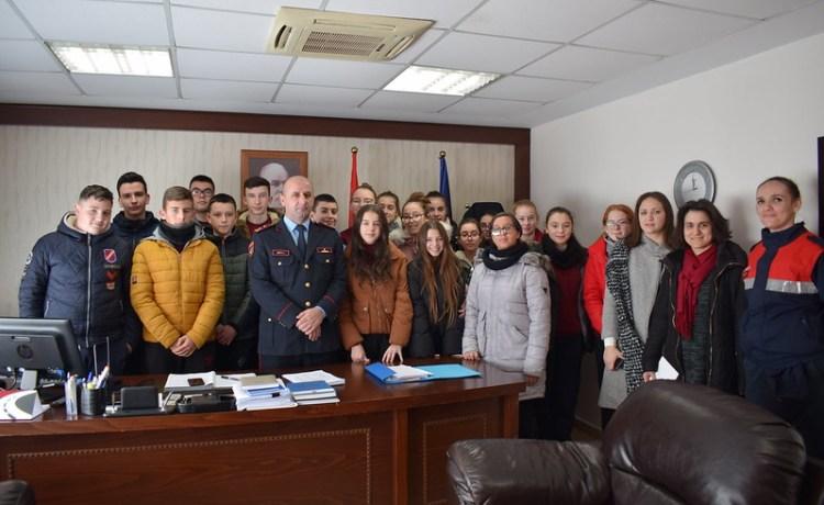 Vizitë didaktike në ambientet e Drejtorisë së Policisë