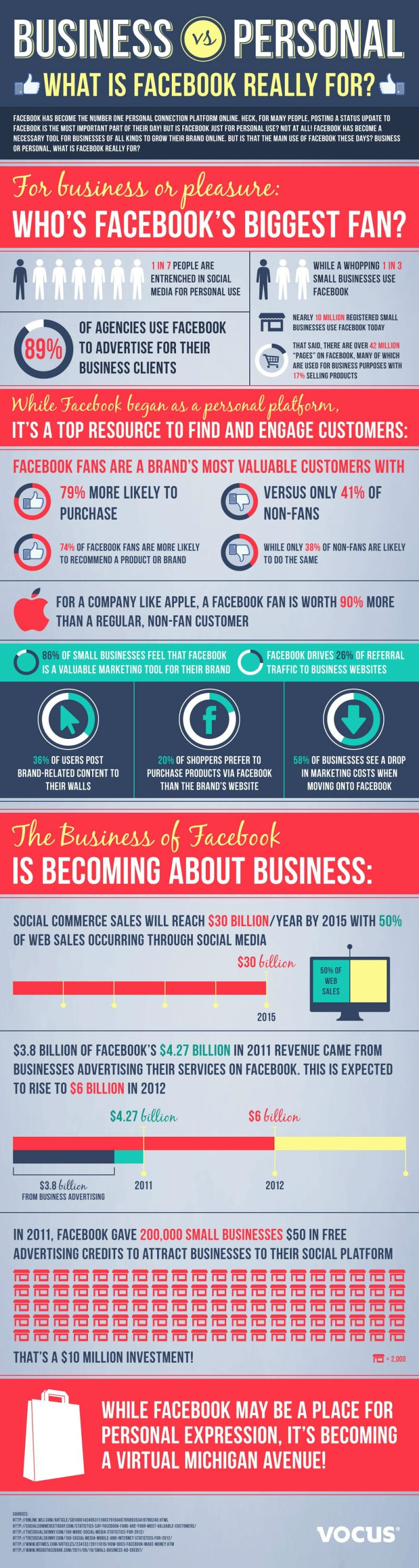 Infographic - Facebook For Business & Pleasure