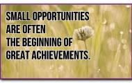 Start small, be big!