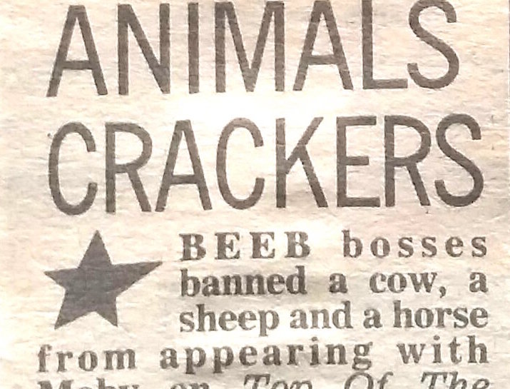 That time Moby wanted to bring farm animals on stage for Top of the Pops… [October 1991]