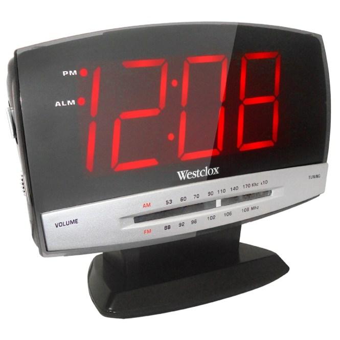 Westclox Am Fm Alarm Clock Radio 1 8