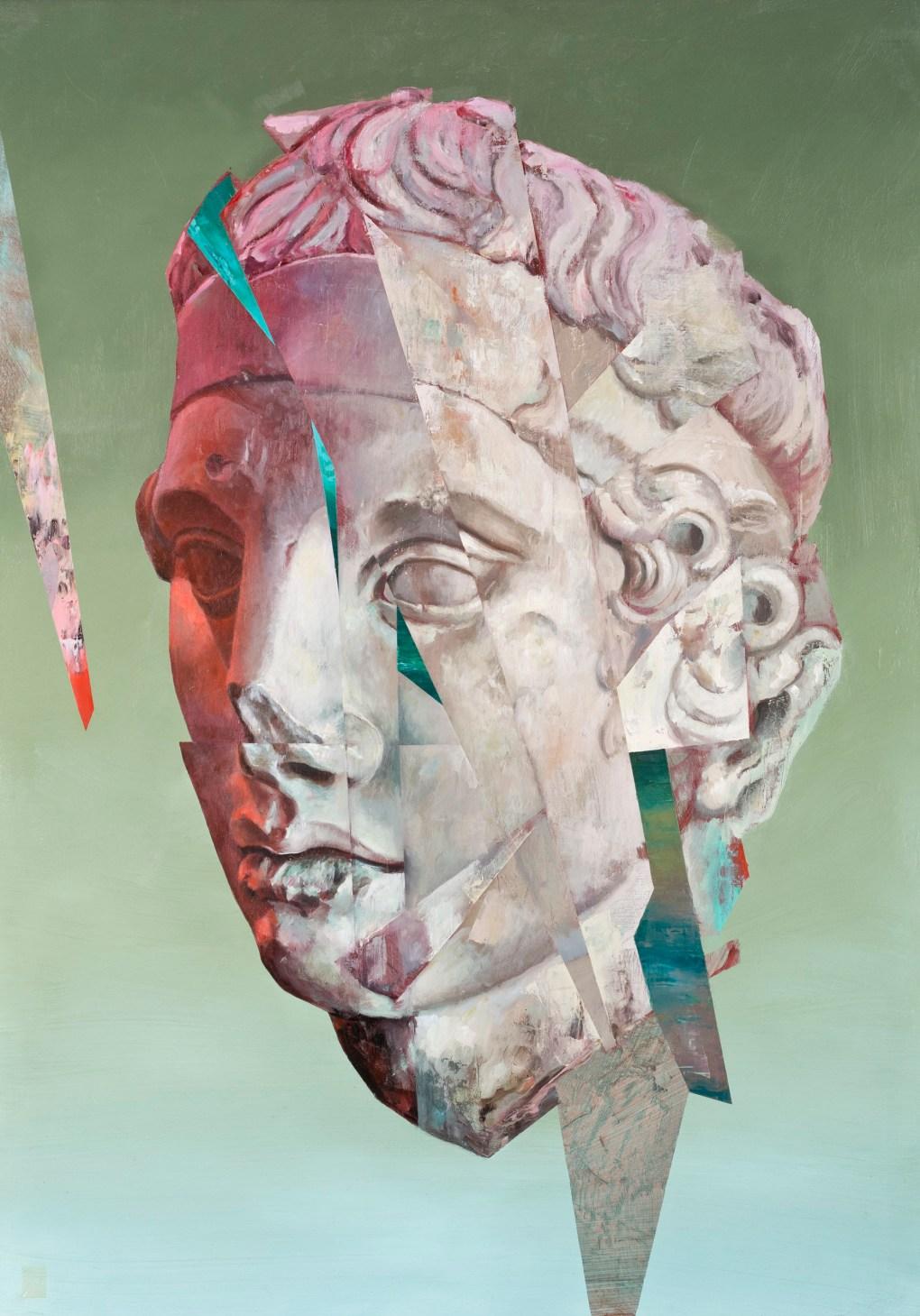 «Apolo» de la colección «Reducto». Óleo sobre canvas del artista Roberto Silva Ortiz