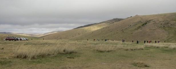 ... und die Touristen beobachten Wildpferde
