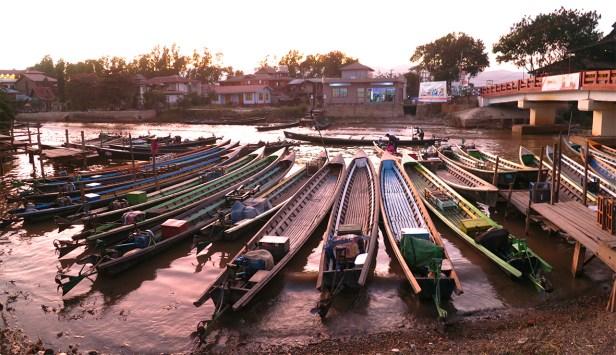 Bootsanleger in Nyang Shwe