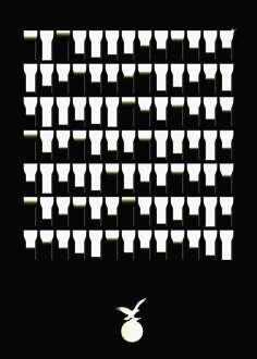 """Tercer premio: """"Vasos vacíos"""" de Gastón Rodríguez"""