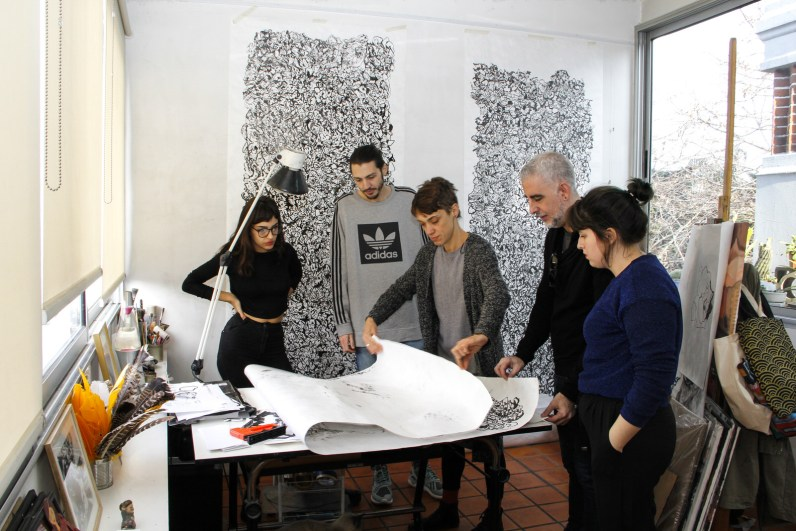 Ornella Pocetti, Paul Fava, Celina Baldasarre, Gonzalo Fargas y Josefina Fogel Nuñez. Foto: Adri Godis