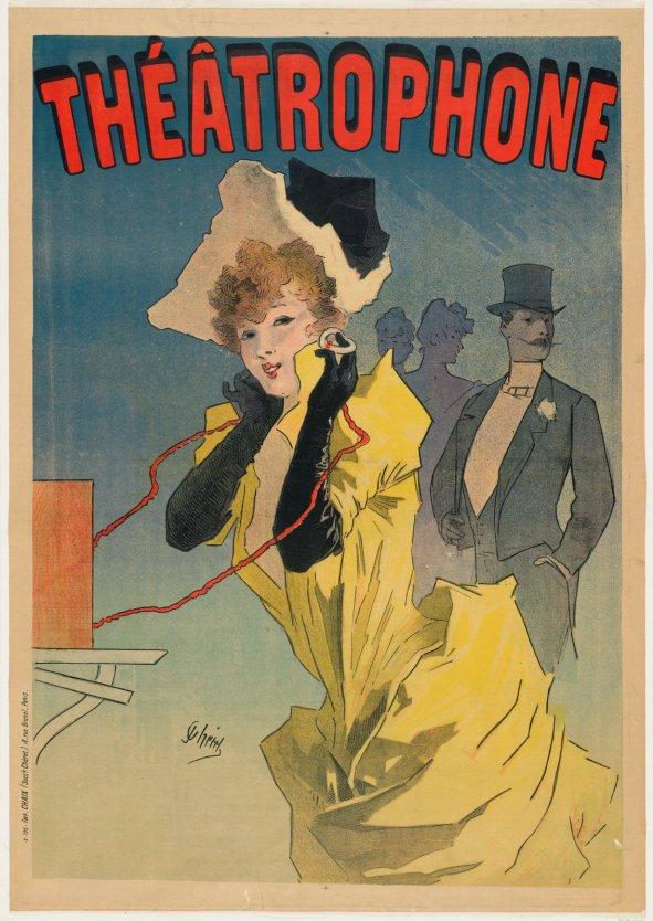 Jules Chéret, Theatrophone, 1890