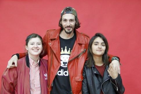 Josefina Fogel Núñez, Paul Fava y Evelyn Sol. Foto: Adri Godis