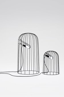 Nendo, lamp, thin black lines series, 2010. Foto: Masayuki Hayashi