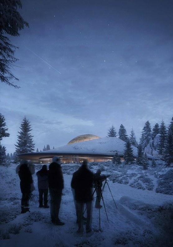 Solobservatoriet. Foto: Snøhetta
