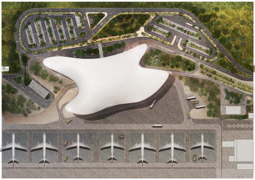 Nuevo Aeropuerto de Gelendzhik en Rusia. Render: Archivio Fuksas