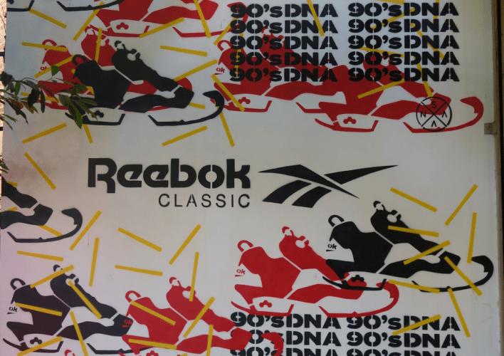 Ambientación y mural Reebok Classic