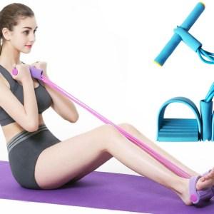 Fitness apparaat met weerstandsbanden Geel