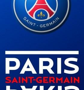 Paris Saint Germain strandlaken logo 70 x 140 cm blauw