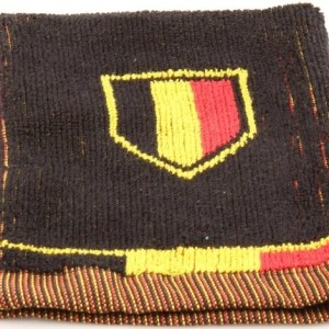 België washandje Belgium Football 20 x 14 cm zwart