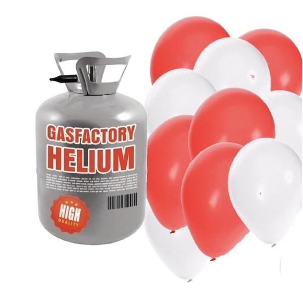 Helium tank met bruiloft 50 ballonnen