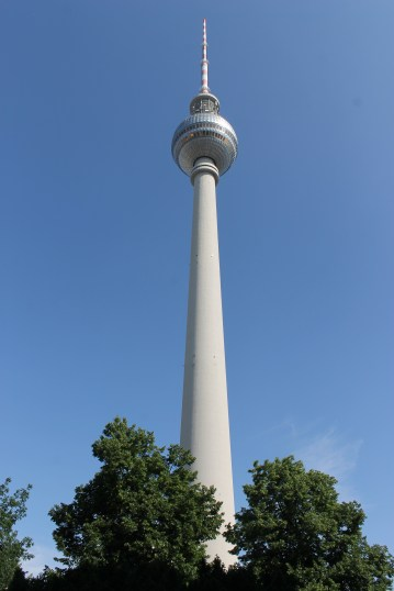 Fernsehturm (Berlin TV Tower). Book online and save queue time if you wish to go to the top at 6m/s.