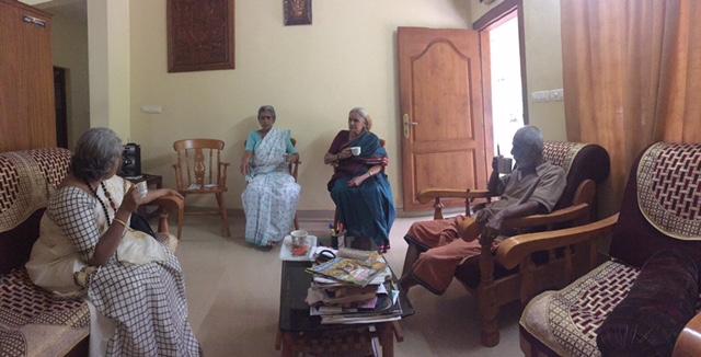 Me, Sudha, Amma and Nair.