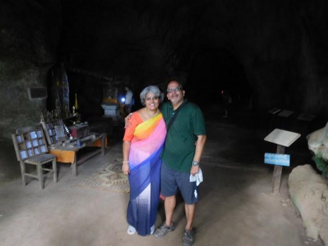 Me in a Satya Paul sari draped over track pants ... not bad eh?