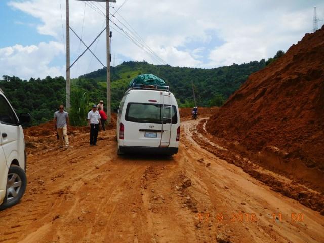 Second landslide where our van skidded too!!