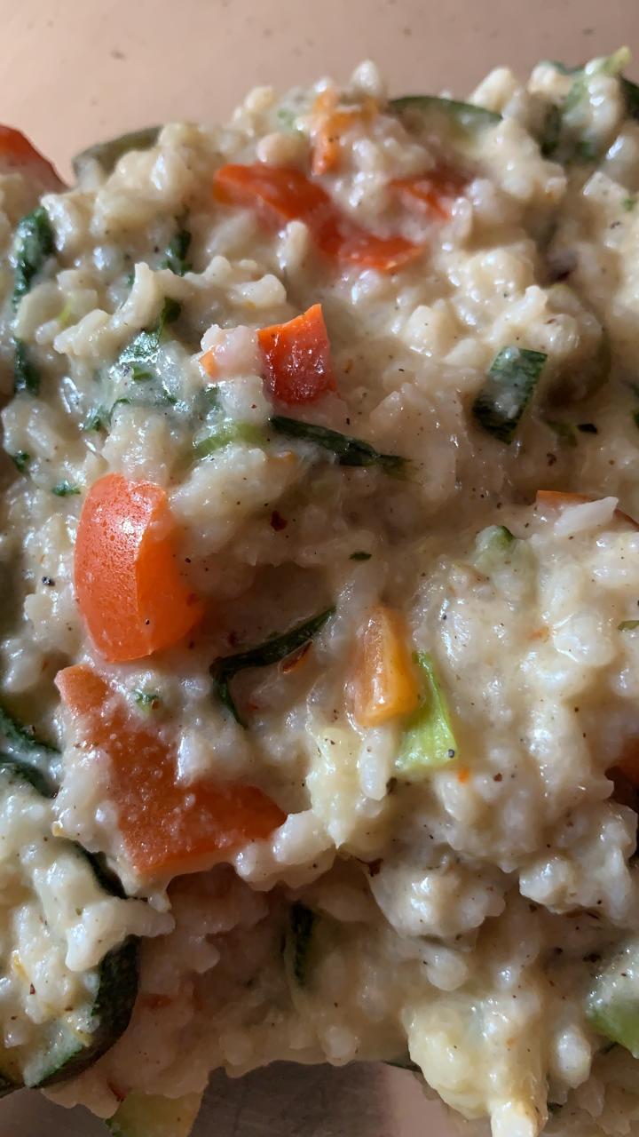 Leftover Rice Risotto