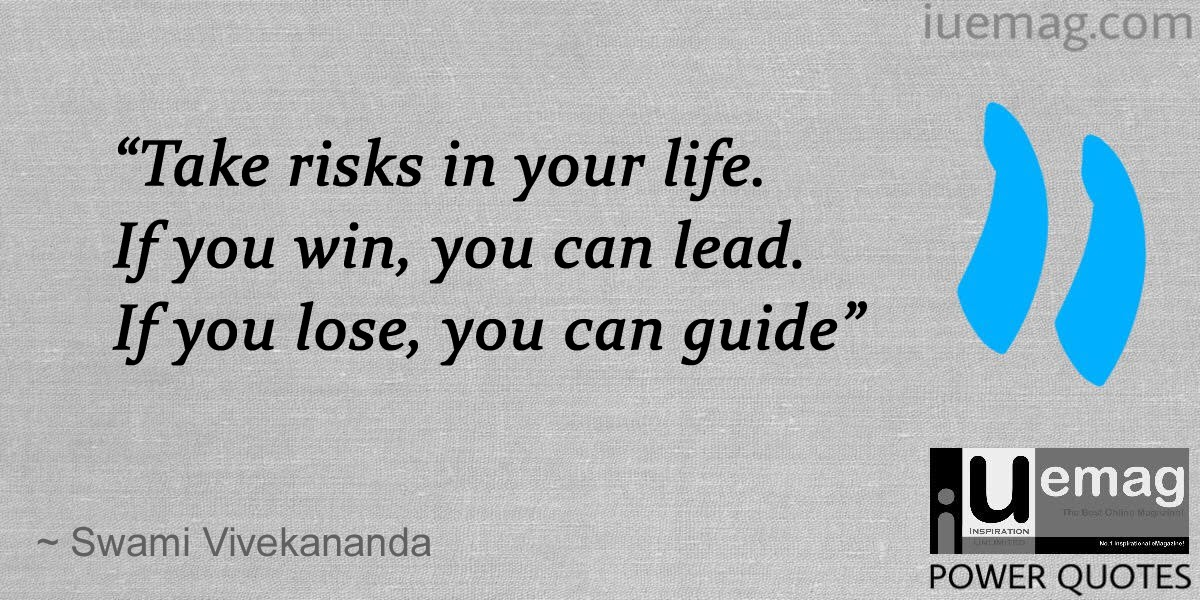Vivekananda Risk taking