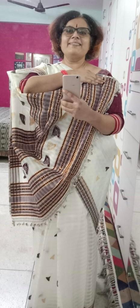 Assam Raw Silk - White