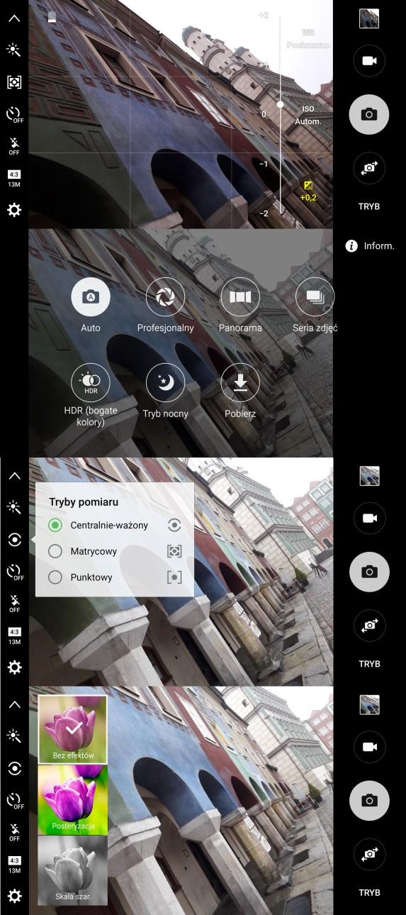 Samsung Galaxy A5 2016 - wygląd aplikacji aparatu - 90sekund.pl