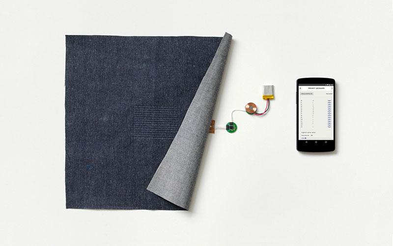 Elektronika, która składa się na kurtkę w ramach projektu Google Jacquard - fot. Google