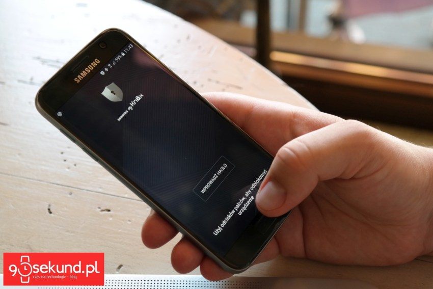 Samsung Galaxy S7 chroniony przez dedykowaną aplikację MyKnox - 90sekund.pl