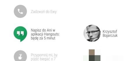 Google Hangouts na Lenovo Moto 360 Sport - recenzja 90sekund.pl