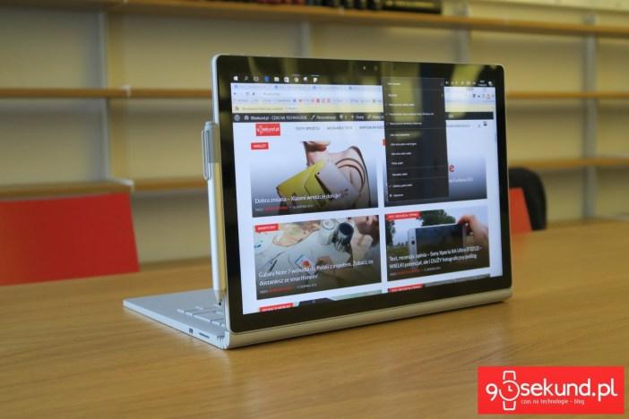 Microsoft Surface Book (2015) - recenzja 90sekund.pl