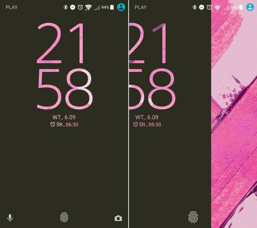 Sony Xperia X Performance (F8131) - Odblokowywanie ekranu głównego - recenzja 90sekund.pl