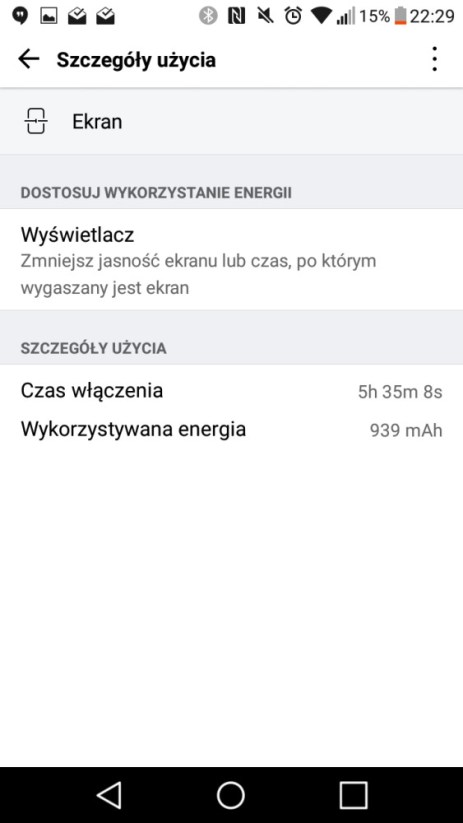Czas pracy na jednym ładowaniu baterii LG X Power - 90sekund.pl