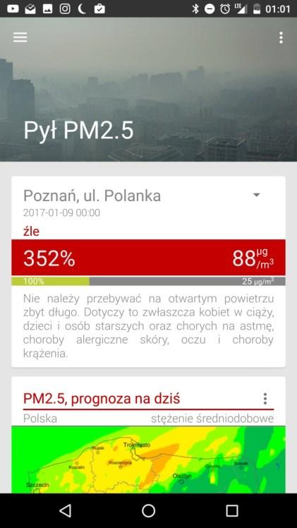 Zanieczyszczenie Powietrza - aplikacja pokazująca stężenie smogu - 90sekund.pl