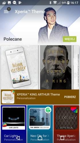Sony Xperia XZ Premium - Sklep Sony z premiowanymi i promowanymi aplikacjami - recenzja 90sekund.pl
